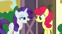"Rarity ""tell her how you feel about apples"" S7E9"