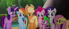 """Spike """"we're all behind you"""" MLPTM"""