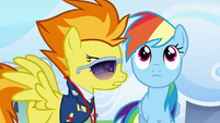 Spitfire talking at Rainbow's face S3E07