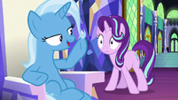 Trixie corrects Starlight on spell terminology S7E2