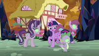 Twilight tries to snap Starlight and Spike out of it S9E2