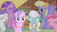 201px-Ponies laughing at Diamond Tiara and Silver Spoon S01E12