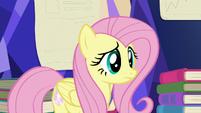 Fluttershy listening to Twilight S5E23