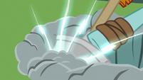 Rockhoof's shovel surging with magic S7E16