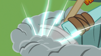 Rockhoof's shovel surging with magic S7E16