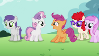 Sweetie Belle and Scootaloo happy S02E06