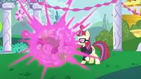 Twilight teleports in front of Moon Dancer again S5E12