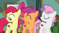 Crusaders presenting their cutie marks S9E12