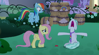 Feather Flatterfly wailing with despair S9E17