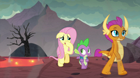 Fluttershy plugging her nose S9E9