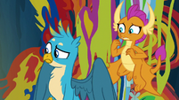 Gallus and Smolder looking at the mess S9E3