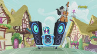 Octavia and DJ Pon-3 speed down the street S5E9