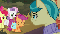 "Scootaloo ""not your quilt we're sad about"" S9E12"