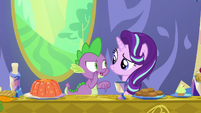 Spike whispering -just keep her here- S7E15