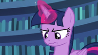 Twilight Sparkle looking very annoyed S7E14