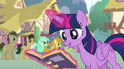 Twilight levitating the goof-off rule book S4E12.png