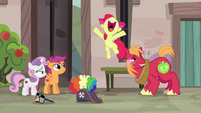 Apple Bloom overjoyed by her brother's crush S7E8