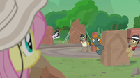 Caballeron's team cheers for Fluttershy S9E21