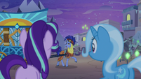 Hoo'Far appears before Starlight and Trixie S8E19
