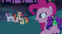 Pinkie Pie gets the signal from Fire Flare S9E17
