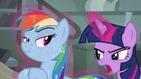 Rainbow Dash being smug S4E04