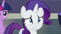 Rarity looking very concerned S8E4