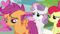 Scootaloo confessing to Gabby S6E19