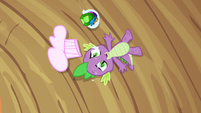 Spike lying on the ground feeling dizzy S3E11