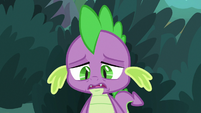 Spike sighing sadly S9E23