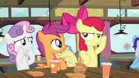 Apple Bloom making a pose S4E15
