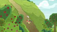 Apple Bloom running down a hill S9E10