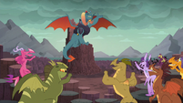 Dragons cheer for Dragon Lord Ember S6E5