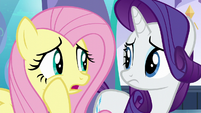 """Fluttershy whispering """"that's not very reassuring"""" S6E1"""