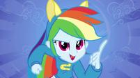 Rainbow Dash pointing EG