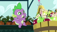 Spike gushing from the cuteness S9E23