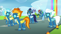 Spitfire -which pony broke protocol- S7E7