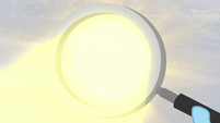 Sunlight goes through a magnifying glass S5E5