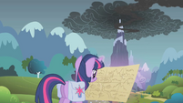 Twilight looking at map S1E7