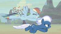 Rainbow Dash slower than Night Glider S5E2