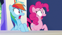"""Rainbow and Pinkie Pie shocked """"what?!"""" S6E15"""