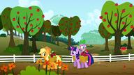 S01E03 Twilight pomaga Applejack zbierać jabłka