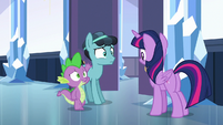 "Spike introducing Thorax as ""Crystal Hoof"" S6E16"