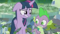 Twilight and Spike nervous S5E25