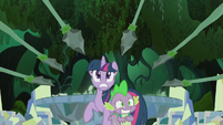 Twilight and Spike surrounded S5E25