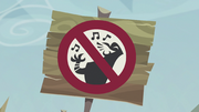 A sign not allowing singing S5E8.png