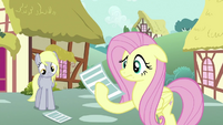 Fluttershy Staring At Paper S2E22