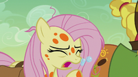 Fluttershy continues coughing bubbles S7E20
