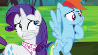 Rarity disgusted by the Bufogren S8E17