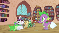 Spike count on the number of pets S3E11