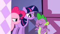 Spike wants to stay with Rarity S1E20